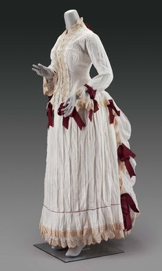 Woman's two-part day dress  French Late 1870s–early 1880s Designed by Esther Geraud (French)