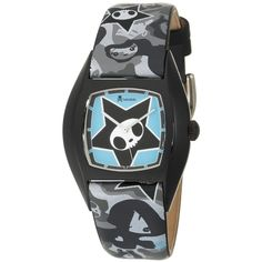 tokidoki Unisex TDW151SCAMO Adios Army Watch ❤ liked on Polyvore featuring jewelry, watches, accessories, bracelets, star jewelry, sport watches, sports wrist watch, wide leather band watches and unisex watches