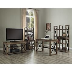 Altra Furniture Wildwood: Writing Desk and Bookcase/Room Divider