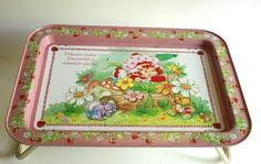 Vintage Strawberry Shortcake TV Tray - my big brother and I both had these with our fave toys!
