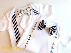 Anchors Away Baby Bow Tie Onesie Bodysuit Formal Baby First Birthday on Etsy, $25.00 AUD
