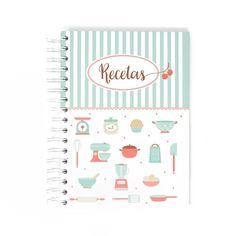 Meal Planner, Tapas, Ebooks, Notebook, Bullet Journal, Scrapbook, Lettering, Sweet, Illustration