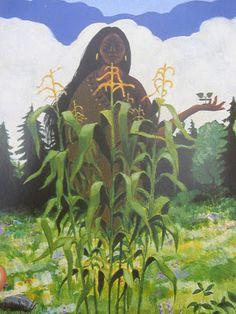 Sakwa Mana - Hopi Goddess of the Day themes: prayer, communication, cycles, harvest, health, joy, providence. Symbolized by blue, corn, prayer sticks, pine
