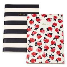 Kate Spade New York Women's Notebook Set, Black Stripe/Rose, One Size, http://www.amazon.com/dp/B00GA57FX4/ref=cm_sw_r_pi_awdm_nlxsub0P3FDPE