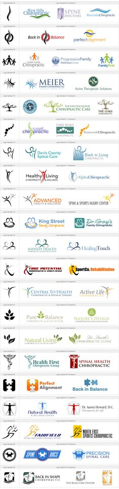 A Gallery of Logos based on Chiropractic Logo samples