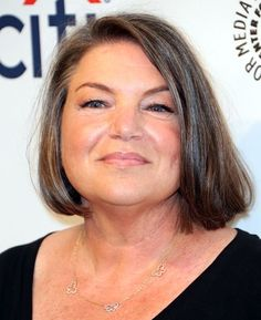 Mindy Cohn hairstyle for grey hair