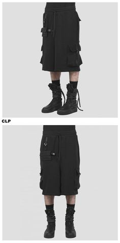 Cargo shorts with detachable pocket techwear High Fashion, Mens Fashion, Best Black, Edgy Look, Piece Of Clothing, Cargo Pants, Street Wear, Black Jeans, Women Wear