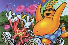 toejam and earl! obsessed with this when i was kid, one of the best video games of all time.
