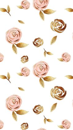 rose gold wallpaper backgrounds phone wallpapers Pink and gold roses. Gold Wallpaper Background, Pink Wallpaper Backgrounds, Rose Gold Backgrounds, Rose Gold Wallpaper, Trendy Wallpaper, Flower Wallpaper, Wallpaper Quotes, Iphone Backgrounds, Wallpaper Iphone Gold