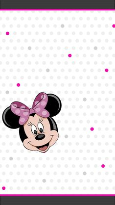 Original white, pink amd grey was made by Jules! So lots of thanks to her for letting me share this cute wall which I edited it with a lovely minnie mouse! Please give me credit and also to her ones...