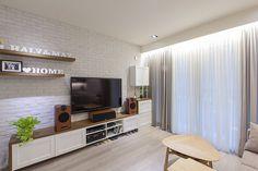 窗簾板,雪花紗+雅士多素色三明治遮光窗簾布