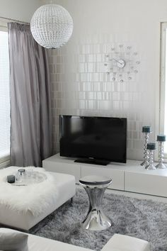 Home White Home: Olohuoneen verhot x3