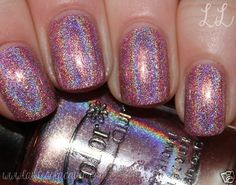 Holographic Pink Halo Hue by Color Club Nail Polish