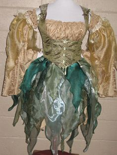 DDNJ Choose Color Fairy 2pc Multi Petal Over Skirt Renaissance Faerie Pirate Gypsy Anime Cosplay Custom Made Your Measurements  $95