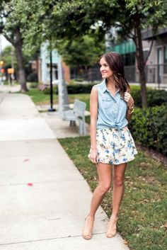 Dear SF stylist, I have a super cute chambray vest, looking for a similar skirt for this spring look ❤