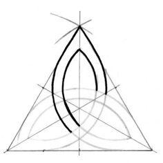 Drawings Triquetra tutorial step nine - A step-by-step tutorial (with photos) on how to draw a precise triple knot (triquetra) easily. Celtic Quilt, Celtic Drawings, 3d Drawings, Dragon Drawings, Celtic Symbols, Celtic Art, Celtic Knots, Celtic Dragon, Mayan Symbols