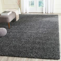 Shop for Safavieh California Cozy Solid Dark Grey Shag Rug. Get free shipping at Overstock.com - Your Online Home Decor Outlet Store! Get 5% in rewards with Club O!