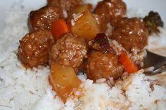 Cranberry Glazed Meatballs and Rice - Mormon Mavens