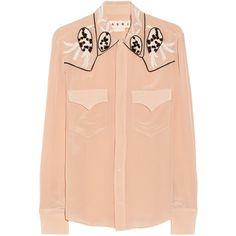 Marni Embellished silk shirt ($745) via Polyvore