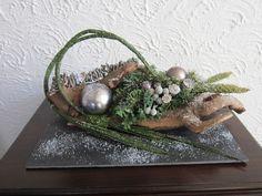 Kerststukje op stronk