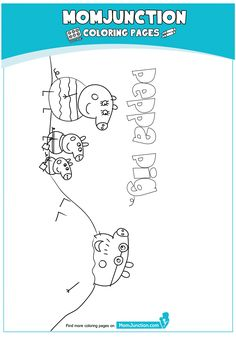 Peppa Pig at Beach Coloring Page Peppa Pig Coloring Pages, Beach Coloring Pages, Cartoon Coloring Pages, Peppa Pig Drawing, Pig Party, Diy Home Crafts, Education, Reading, Children
