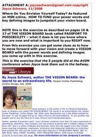 MSN Joyce Schwarz THE VISION BOARD BOOK
