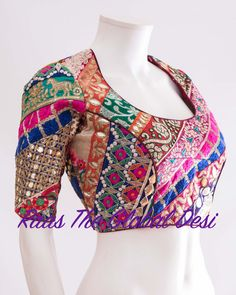 Readymade saree blouse online USA Premium range of blouses, croptops, handwork blouses which can be mixed and matched with variety of Sarees and lehengas . Modern Blouse Designs, Cotton Saree Blouse Designs, Stylish Blouse Design, Stylish Dress Designs, Bridal Blouse Designs, Choli Designs, Blouse Patterns, Indian Blouse, Indian Wear