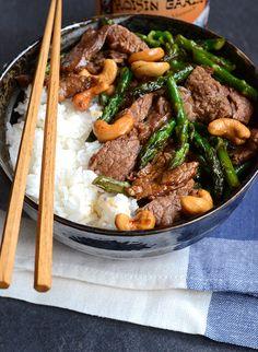 Garlic Beef and Asparagus Stir-fry
