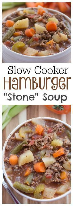 If you need something to throw together and have ready for dinner then this Slow Cooker Hamburger Soup is perfect It is easy and delicious! The post If you need something to throw together and have r… appeared first on Woman Casual - Food and drink Crock Pot Recipes, Sopa Crock Pot, Slow Cooker Recipes, Beef Recipes, Cooking Recipes, Stone Soup Recipe Crock Pot, Recipies, Barbecue Recipes, Cooking Tips
