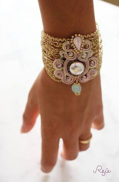 Soutache  bracelet, crystals, Handmade in Italy  Reje creations https://www.facebook.com/rejegioielliinsoutache