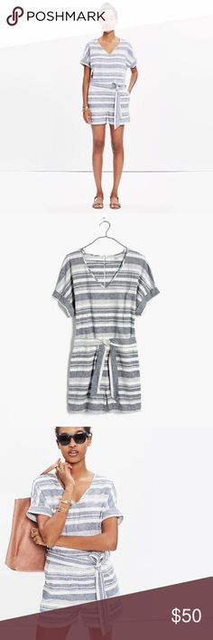 """Perimeter romper Madewell perimeter romper in """"stripe"""" in excellent condition Madewell Pants Jumpsuits & Rompers"""