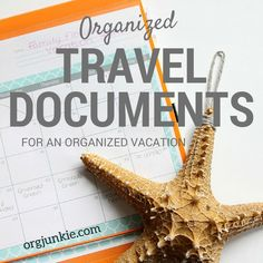 Organized Travel Documents for an Organized Vacation. I do this every trip! It saves lots of time and trouble. Travel Document Organizer, Family Organizer, Travel Organization, Organizing, Travel Packing, Travel Usa, Travel Tips, Packing Tips, Travel Ideas