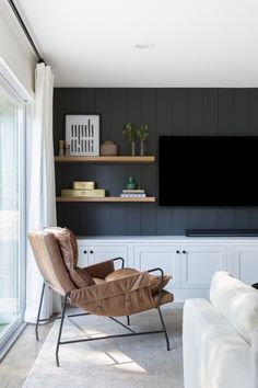Living Room Tv, Home And Living, Entertainment Center, Room Inspiration, Sweet Home, New Homes, House Design, Tv Wall Design, Interior Design
