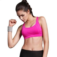 6198ed8a57 Women Yoga Bra Sports Bra for Running Gym Fitness Athletic Bras Padded Push  Up Tank Tops For Girls ropa deportiva S-XL.