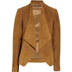 Shop for Draped suede jacket by Vince at ShopStyle. Brown Suede Jacket, Leather Jacket, Warm Dresses, Suede Leather, Jackets For Women, Fashion Outfits, Runway Fashion, My Style, Clothes