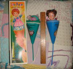 Vtg Antique Estate RARE Set Hong Kong Stick Pop Up Puppet Lot Original Box Mint | eBay