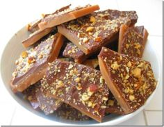Chocolate Butter Toffee dessert - Weight Watchers 4 Points Plus Value