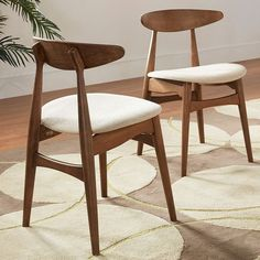 HomeVance Andersen Dining Chair 2-piece Set, Brown