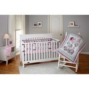 Little Bedding by NoJo Elephant Time 3-Piece Crib Bedding Set, Pink with BONUS Bumper Sale