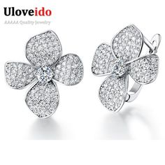 Slyq Jewelry Charms Flower New Women Big Earring Cubic zircon ia Vintage Jewelry with Accessories PendientesR136. High quality materials and craftsmanship. High polished / Never Fade / Scratchproof and Anti - Allergy. Stunning embellished piece to impress the him/her in your life. Size info is estimate, if concern, Please leave me message. Imported.