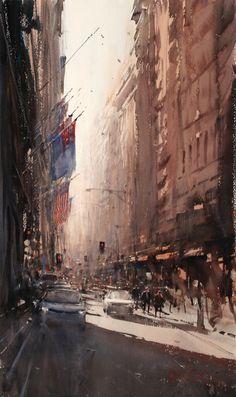 Incrível pintura em aquarela de Joseph Zbukvic. O que mais chamou minha atenção foi sua preocupação com a luz.