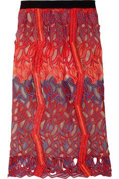 Peter Pilotto's Cutout Lace Chiffon Skirt is AMAZING!