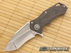 Microtech Marfione Star Lord Carbon Fiber Custom Flipper knife for sale | GPKNIVES.com