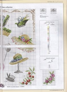 DMC Collection de chapeaux Creation Point de Croix Hors-Serie Calendrier 2014