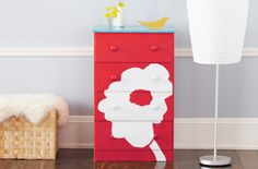 makeover an old dresser to a piece of art in a room. would look great in a kids room or in a play room to hold crafts! Upcycled Furniture, Kids Furniture, Painted Furniture, Refurbished Furniture, Boy Dresser, Furniture Makeover, Dresser Makeovers, Dresser Ideas, Home Made Simple