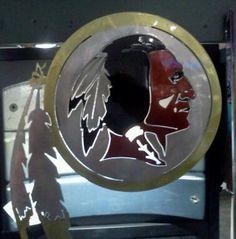 Washington Redskins Metal Frame Acrylic Top & Bottom Inlaid Mirror ...