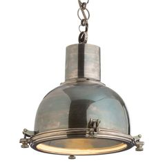 industrial lighting the large sadler pendant brings a hardworking history to the home with its classic silhouette this arteriors light fixture shines arteriors soho industrial style pendant light fixture