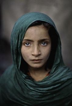 Steve McCurry, Girl with Green Shawl, Peshawar, Pakistan, 2002, C-type print on Fuji Crystal Archive paper