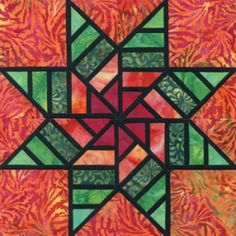 Stained Glass Zest of Life Quilt Block Pattern