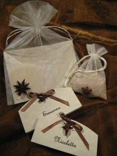 Wedding invitations - place card - Rice bags